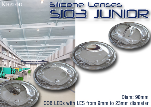 NEW SIO3 JUNIOR! Silicone Lenses diam 90mm, designed for COB LEDs